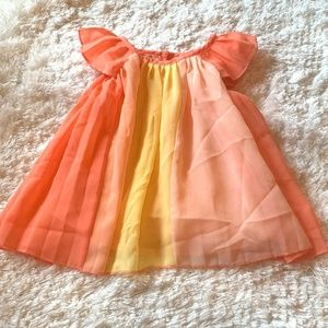 Childrens Place Infant Girls Pleated Dress 0-3 Mo